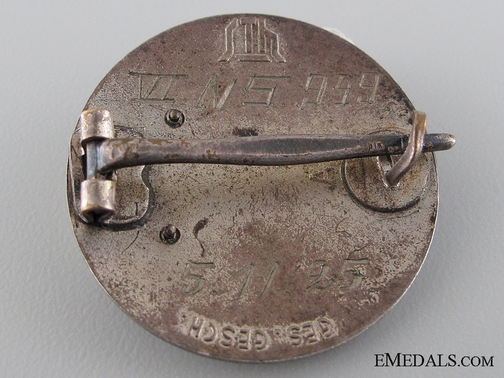 1925 Stahlhelm Membership Badge