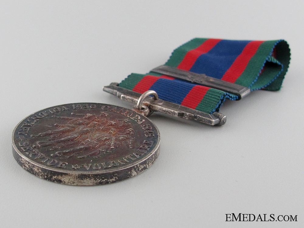 WWII Canadian Volunteer Service Medal in Issue Box