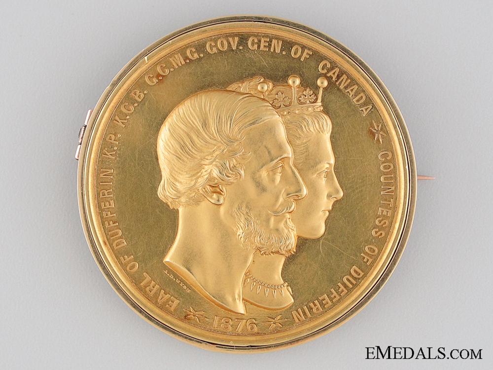 An 1877 Gold Lord Dufferin Governor General's Academic Medal