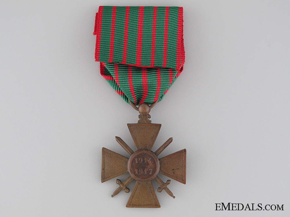 WWI French War Cross; 1914-1917 Version
