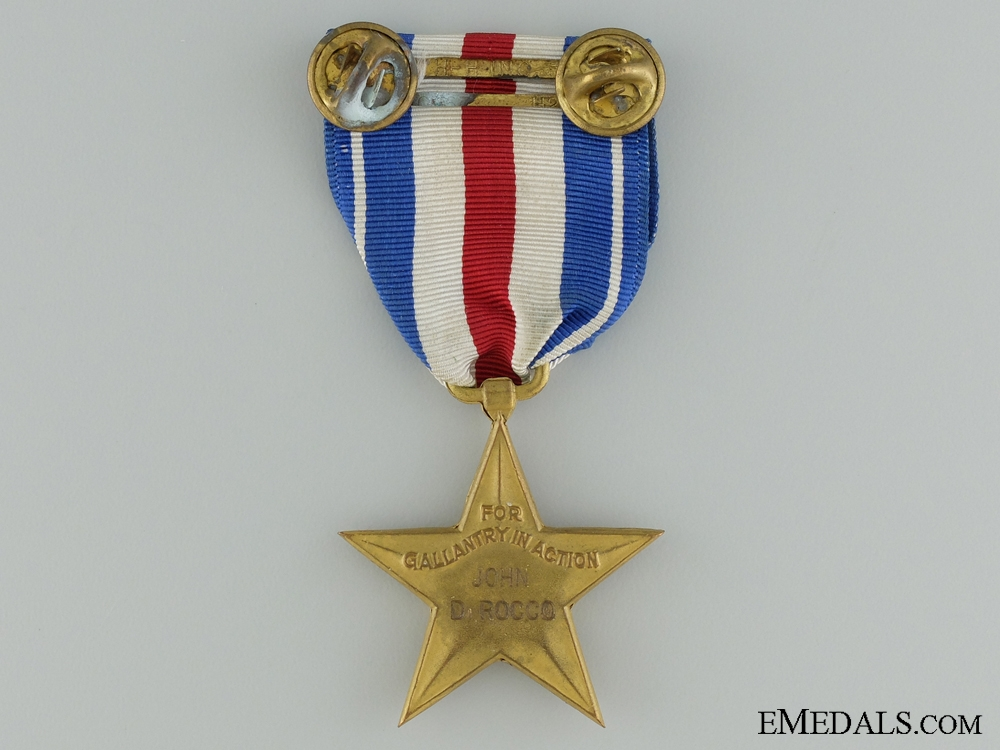A Second War American Silver Star; Named