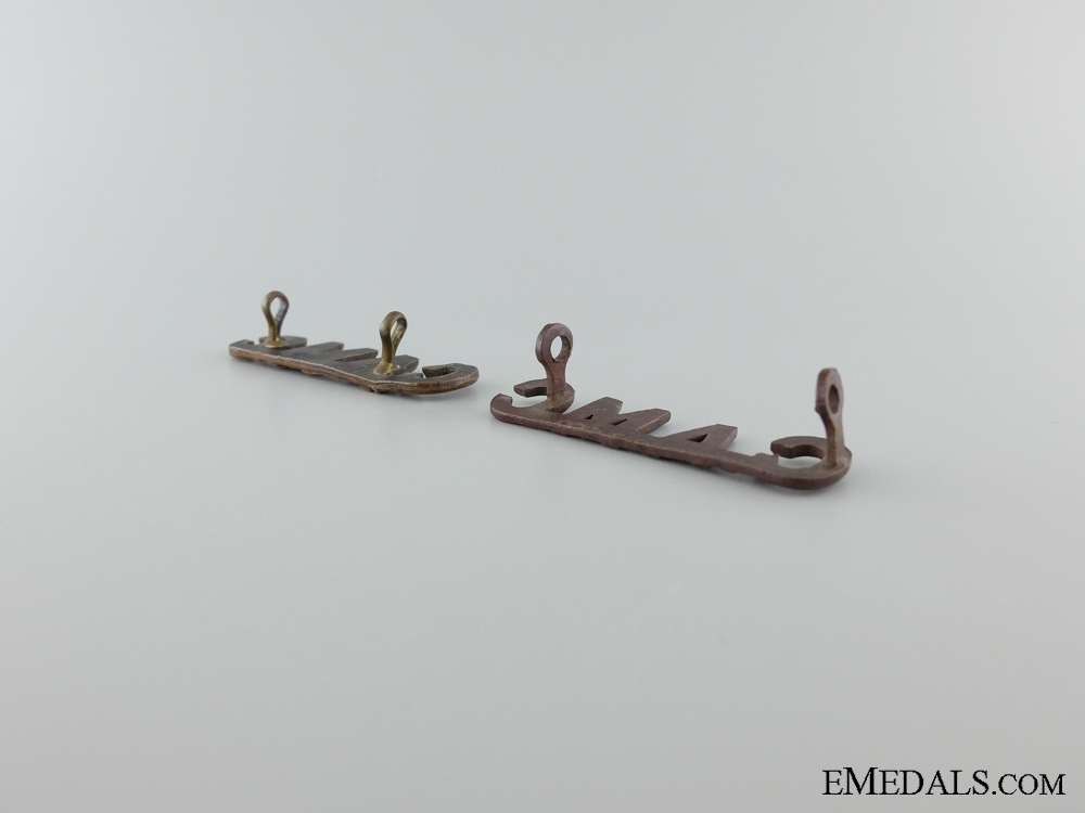 WWI Canadian Army Medical Corps Shoulder Title Pair