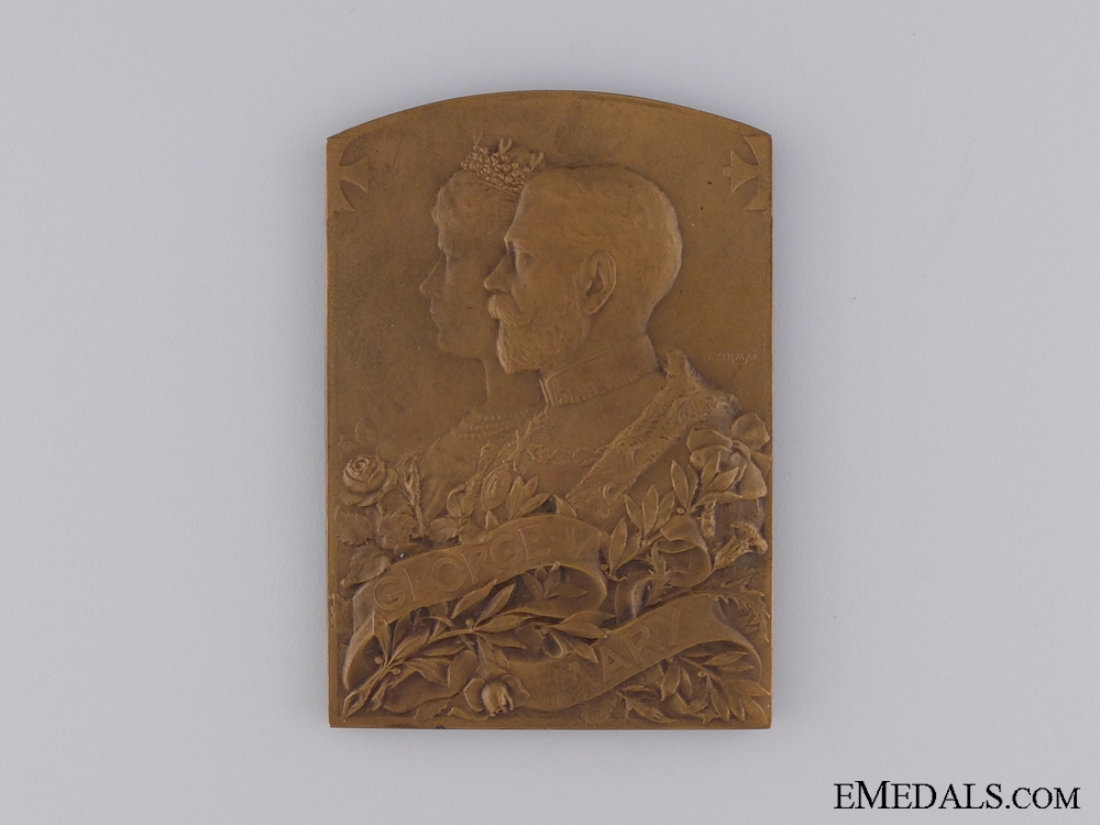 A King George V and Queen Mary Coronation Table Medal