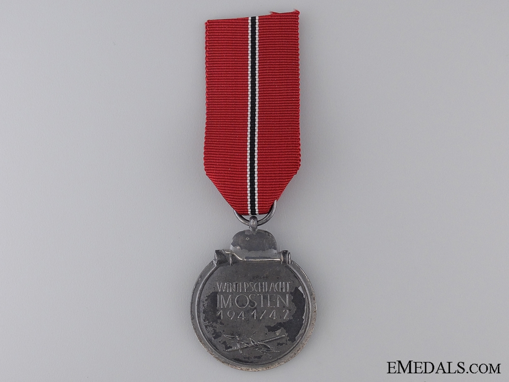 A Second War East Medal 1941/42; Marked 3