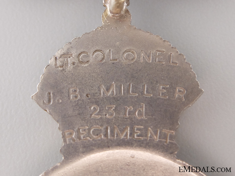 A Colonial Auxiliary Forces Officers Decoration to the 23rd Regiment