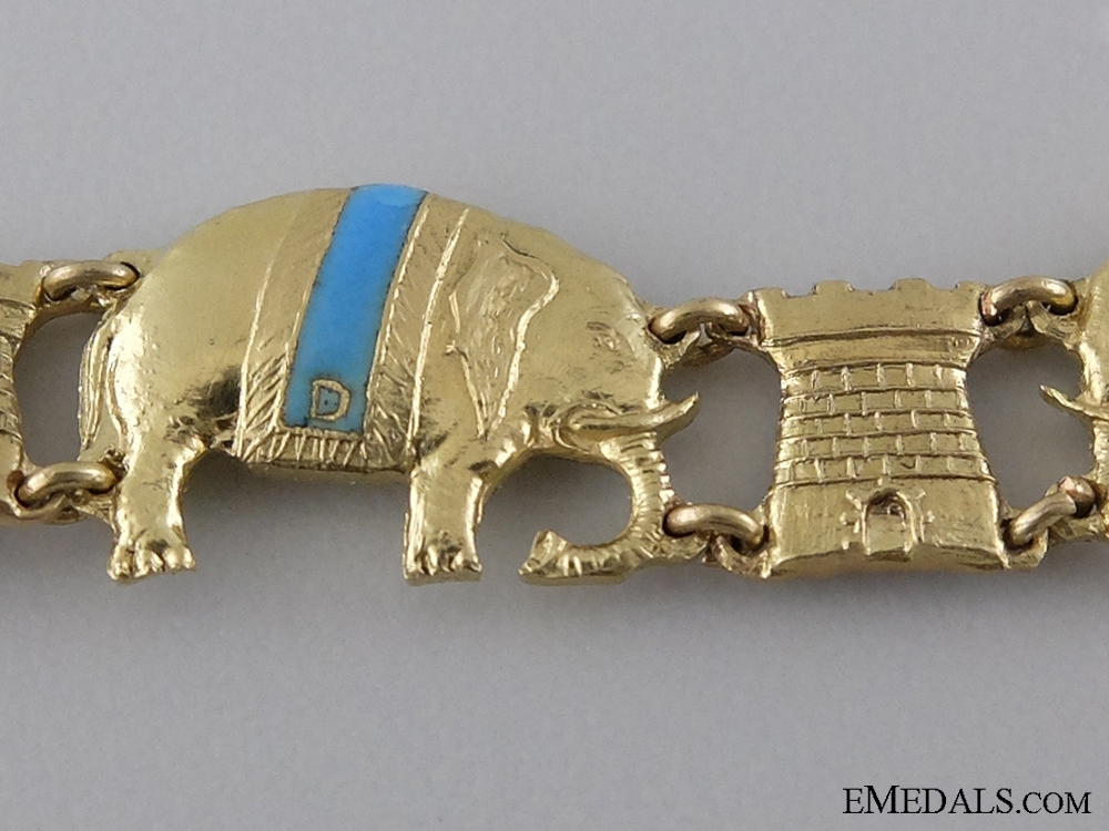 A Superb Danish Order of the Elephant Miniature Collar in Gold