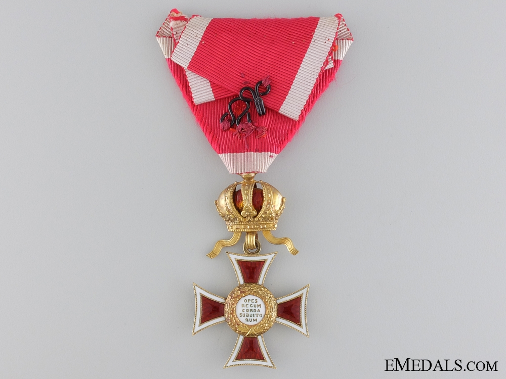 A 1860-1866 Order of Leopold in Gold; Knight's Cross
