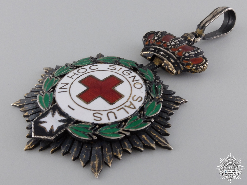 A Spanish Red Cross Honor Decoration; First Class