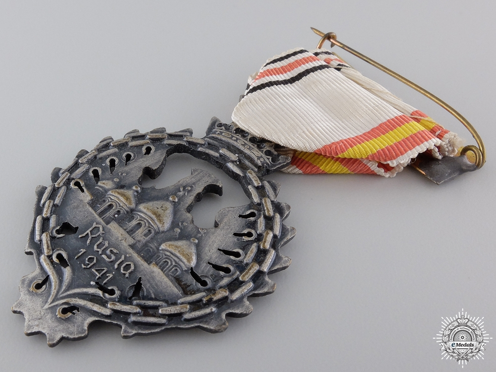 A Medal of the Spanish Blue Division; Russia Service