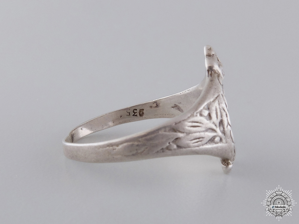 A First War Prussian Pilot Ring in Silver