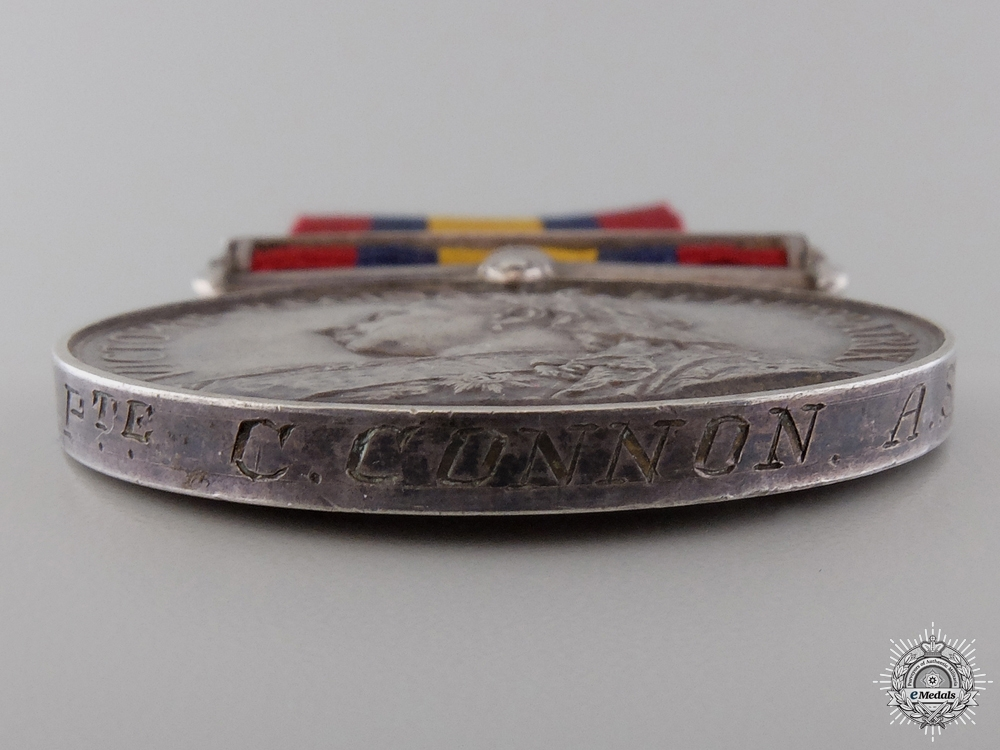 A Queen's South Africa Medal to Private Charles Connon