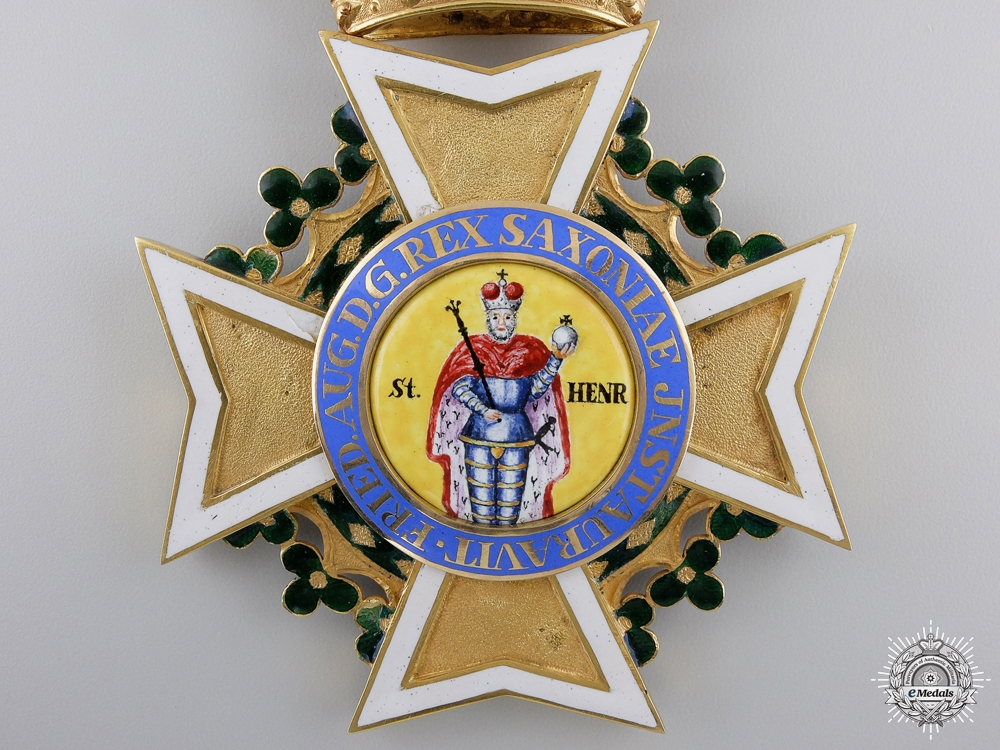 A Saxon Military Order of St. Henry (1736-1917); Grand Cross in Gold