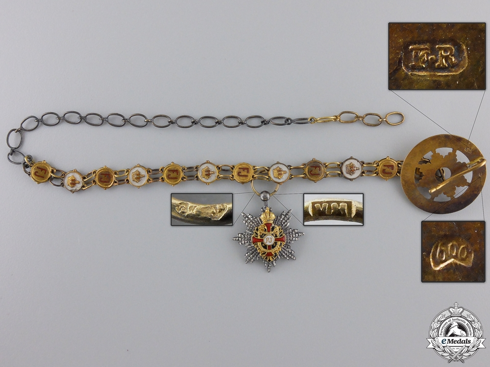 A Cased Miniature Austrian Order of Franz Joseph by Mayer, Wien