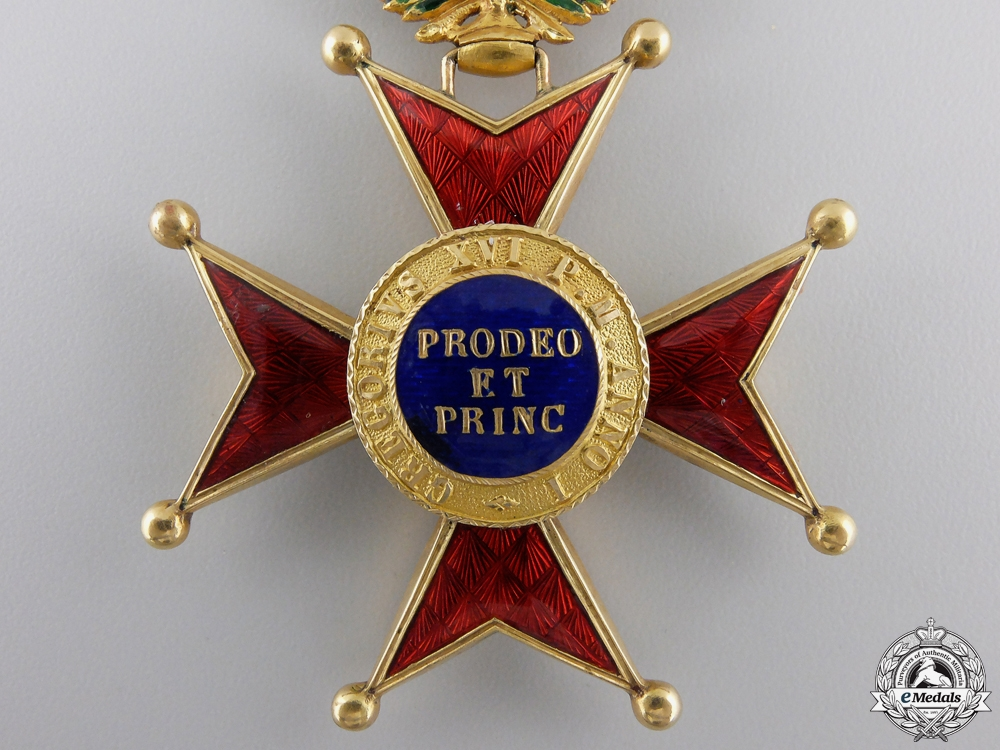 An Order of St.Gregory in Gold; Commander's Cross c.1900
