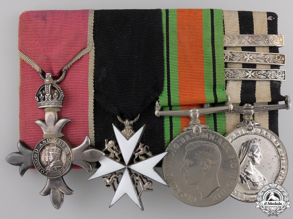 An Order of the British Empire (MBE) & St.Johns Medal Bar