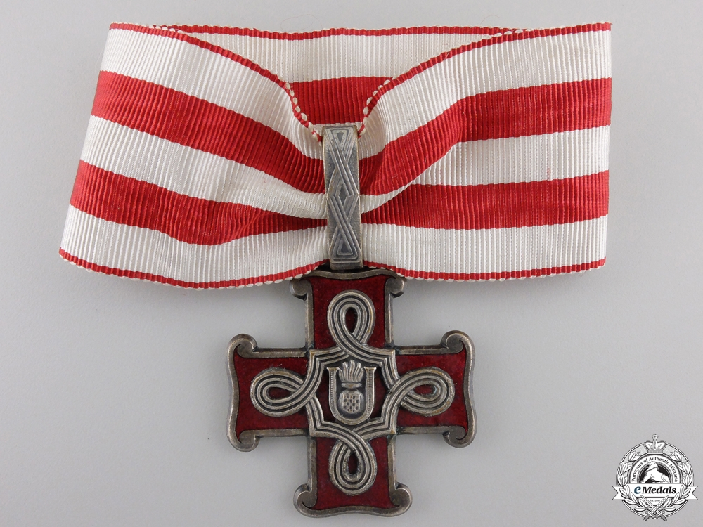 A Croatian Order of Merit; Second Class with Case
