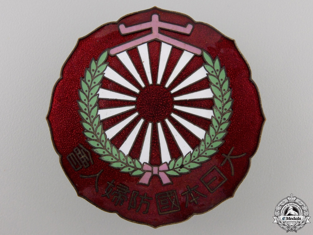 A Japanese Women's Protection of the Country Badge