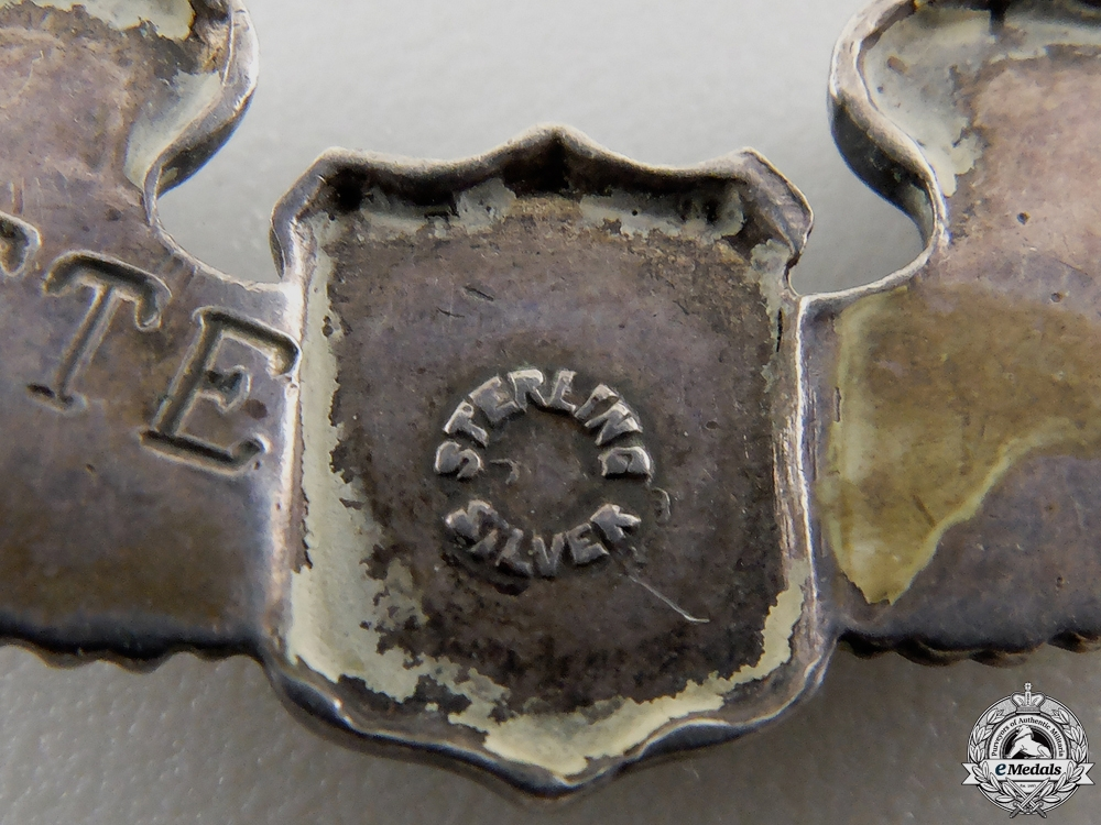 A Second War USAAF Silver Wing Bracelet by Orber