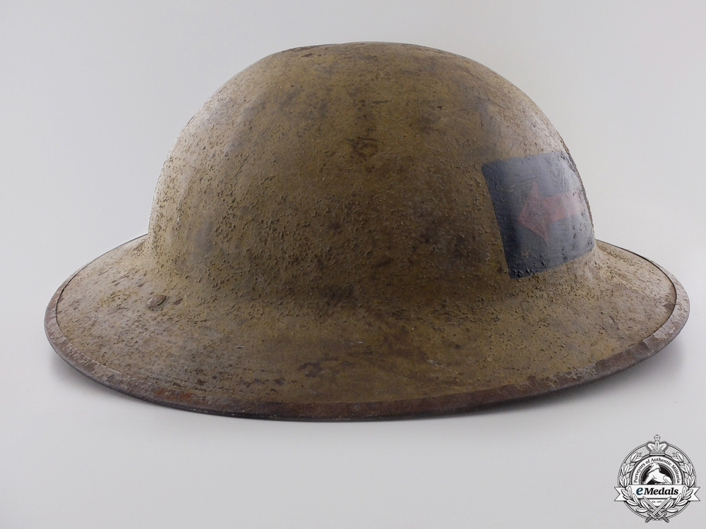 A First War Mark II 2nd Canadian Machine Gun Battalion Helmet  Consignment #4