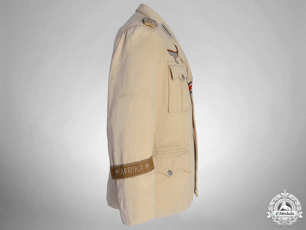 An M36 NCO's Tropical Service Tunic with Afrika Cufftitle
