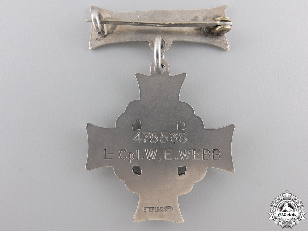 A First War Memorial Cross to the PPCLI; Wounded at Passchendaele
