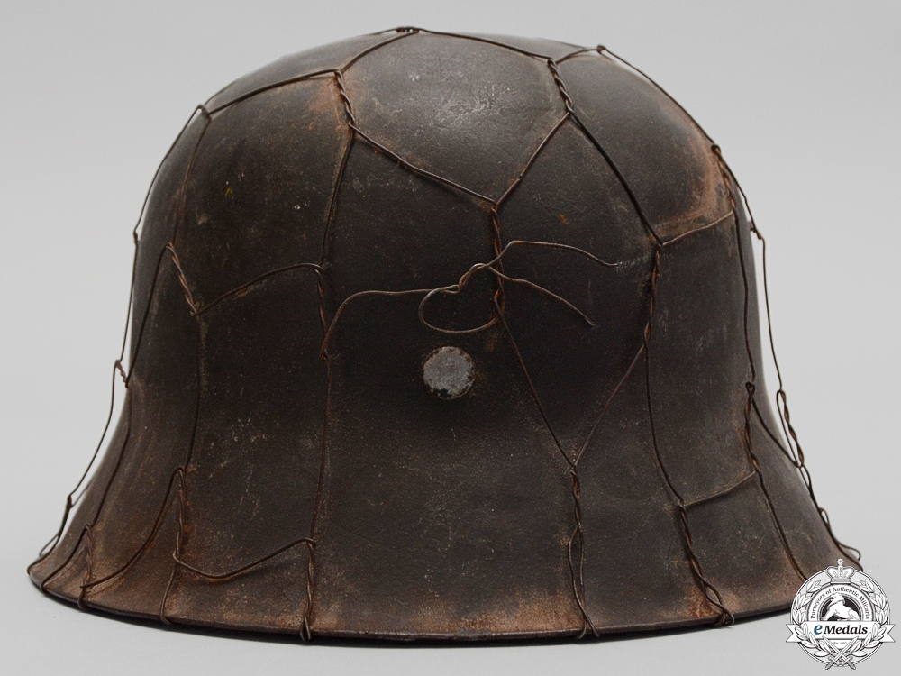An M42 Army (Heer) Helmet with Wire & Named