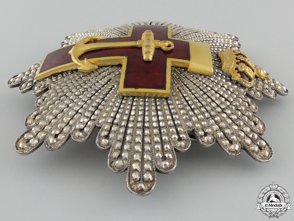 A Spanish Order of Naval Merit; 2nd Class Breast Star 1889-1931