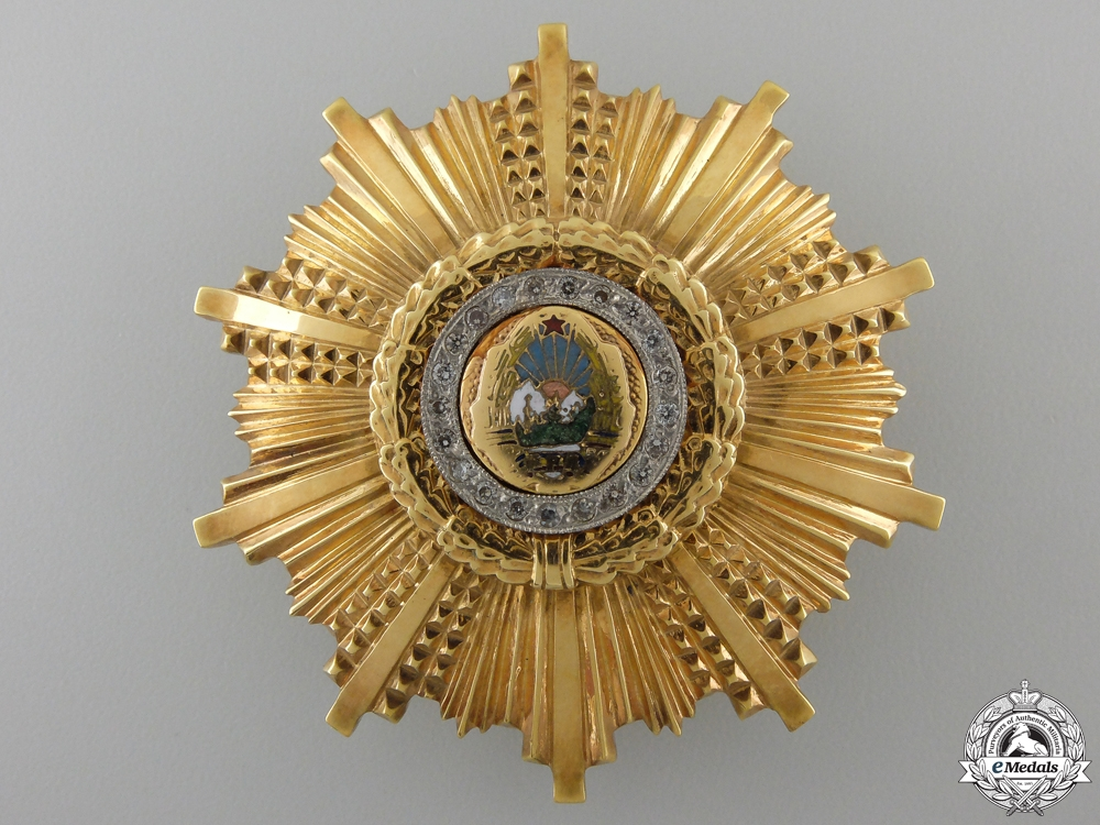 A Romanian Order of the 23 of August in Gold & Diamonds