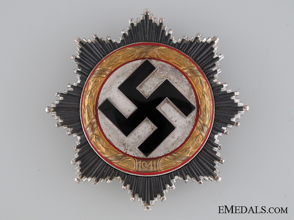 A German Cross in Gold by Zimmermann with Case