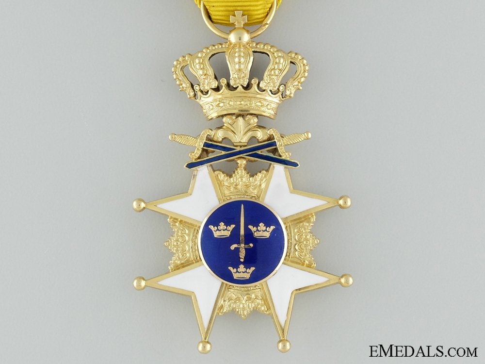 A Gold Swedish Order of the Sword with F.Beck & Son Case