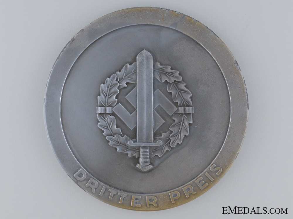 1939 SA Sport Competitions 3rd Place Finisher's Table Medal