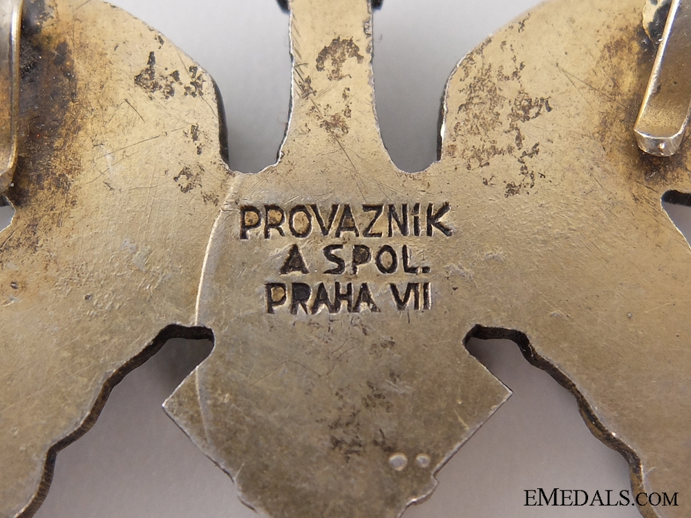 A Second War Czechoslovakian Pilot Badge by Provaznik, Praque