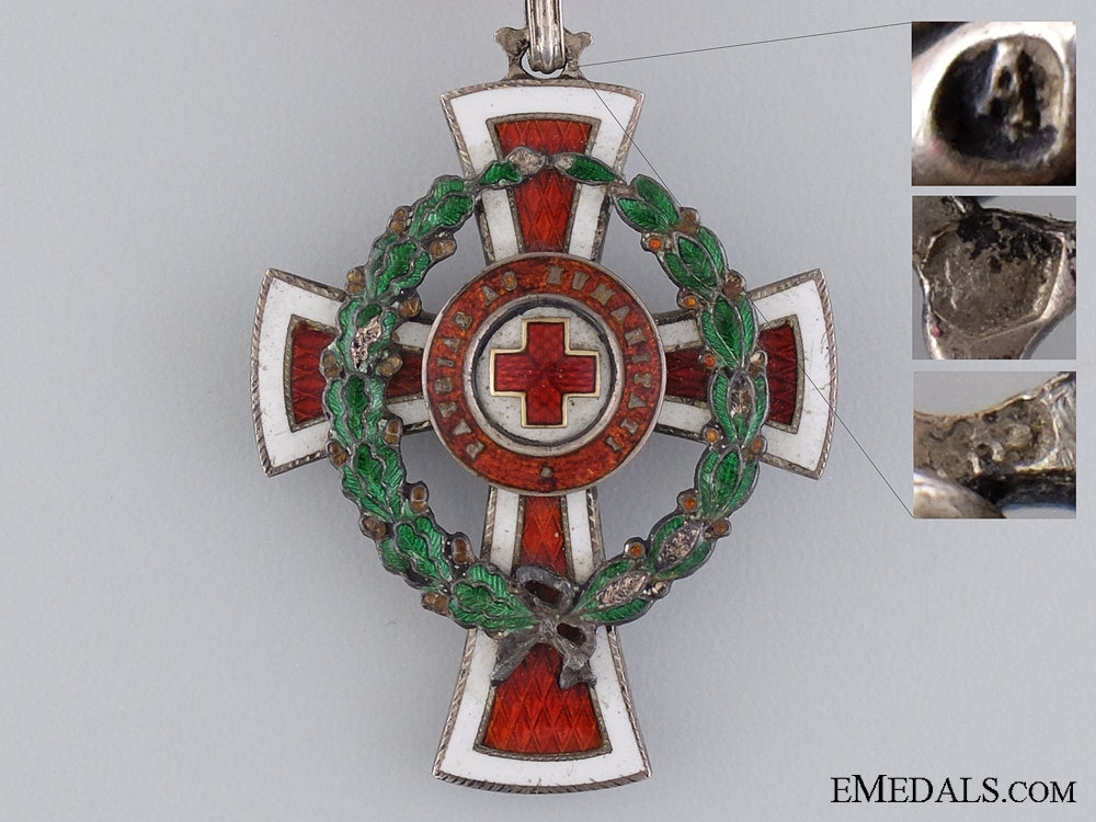 An Austrian Red Cross Honour Decoration with Case of Issue