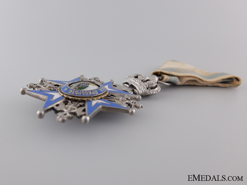 A Serbian Order of St. Sava with Crown Suspension