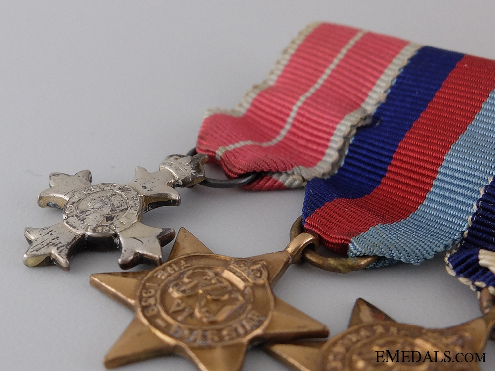 A Canadian Second War OBE Miniature Medal Bar