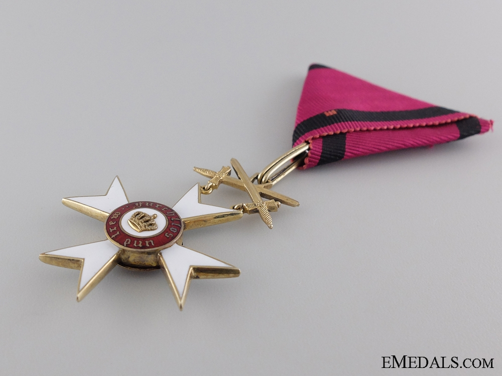 A WWI Wurttemberg Order of the Crown; 1870-1918
