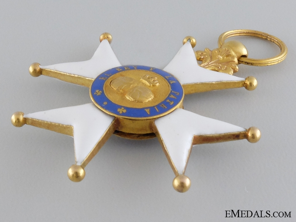 A Spanish Royal Military Order of Saint Ferdinand in Gold 1830-1840