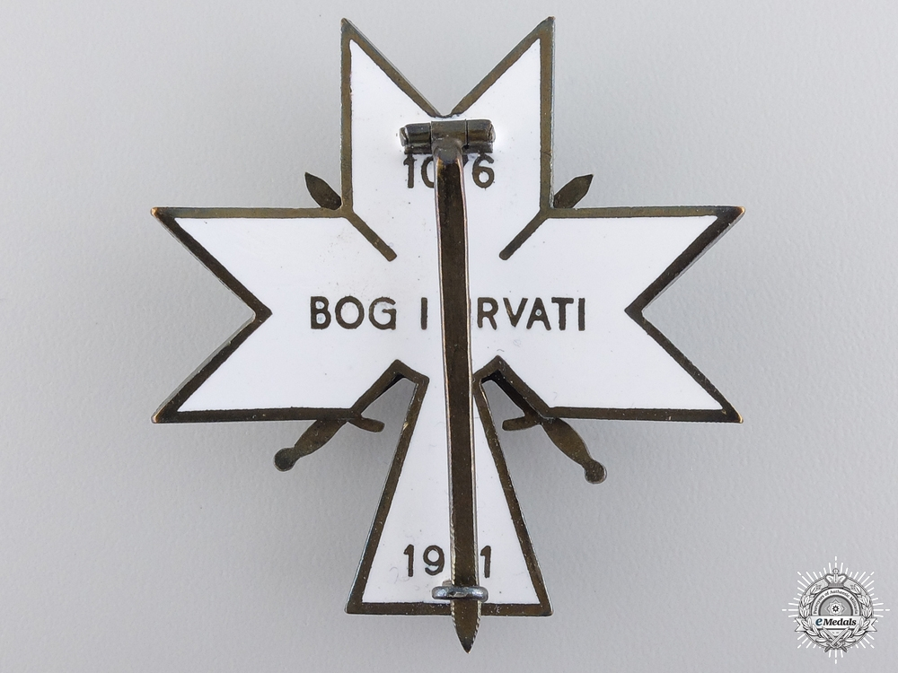 A 1941-45 Croatian Order of King Zvonimir with Swords; Second Class