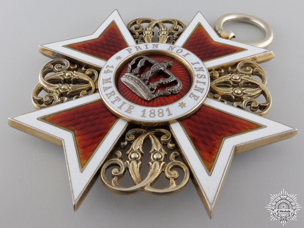 A Romanian Order of the Crown; Grand Cross