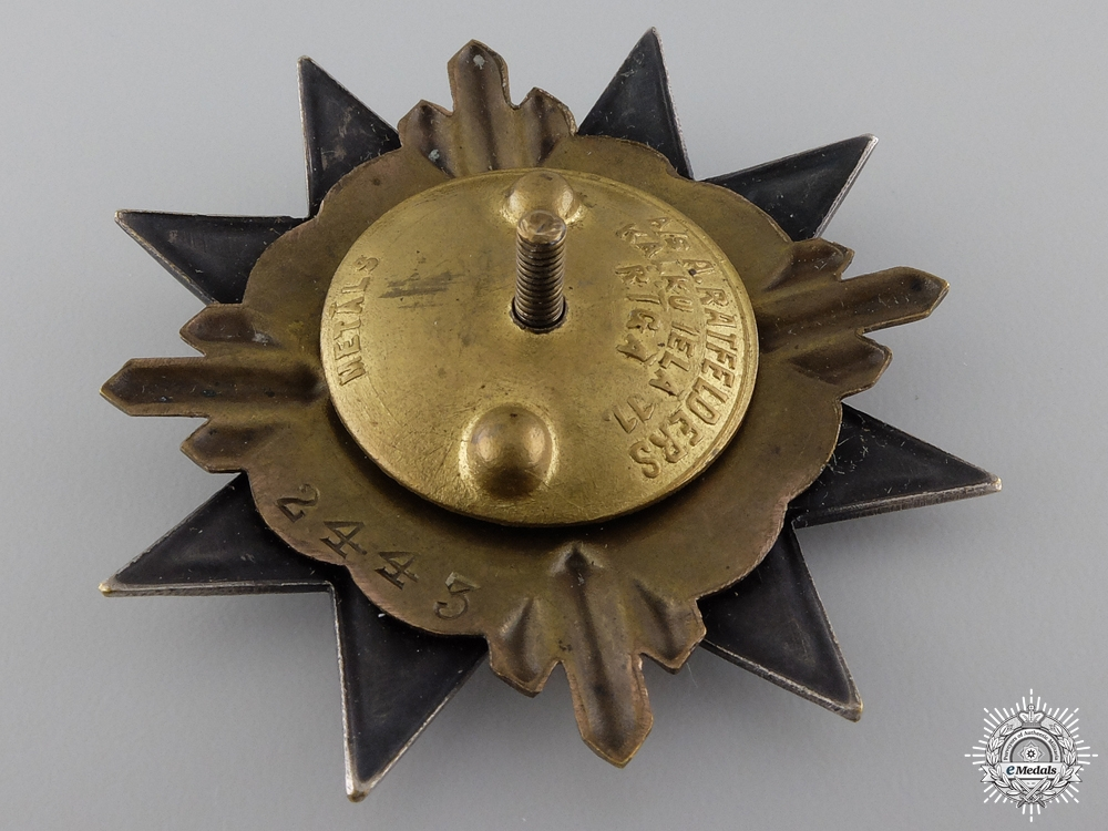 A 1930's Latvian Military Army Badge