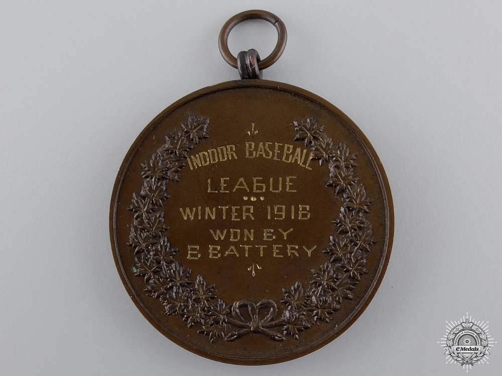 A 1916 Canadian Reserve Artillery Athletic Association Medal