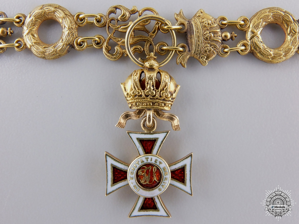 An 1860's Miniature Order of Leopold in Gold