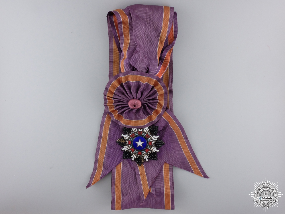 A Chinese Order of the Brilliant Star; Grand Cross Badge with Document