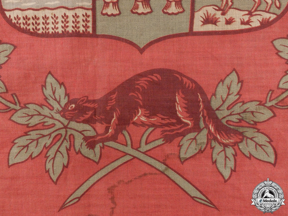 A First War 1st Canadian Mounted Rifles Canadian Flag