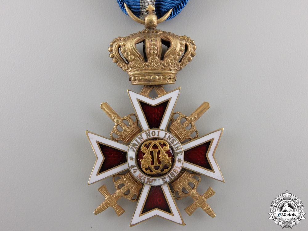 An Order of the Crown of Romania; Military Division with Swords
