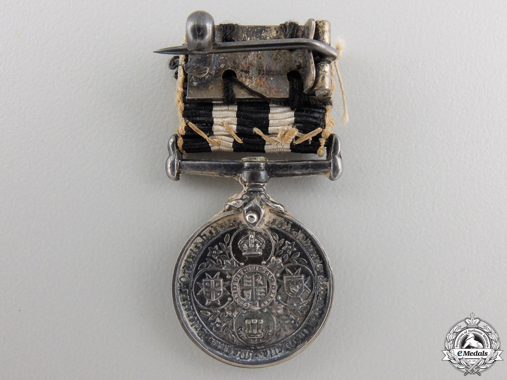 A Miniature Service Medal of the Order of St. John with Case