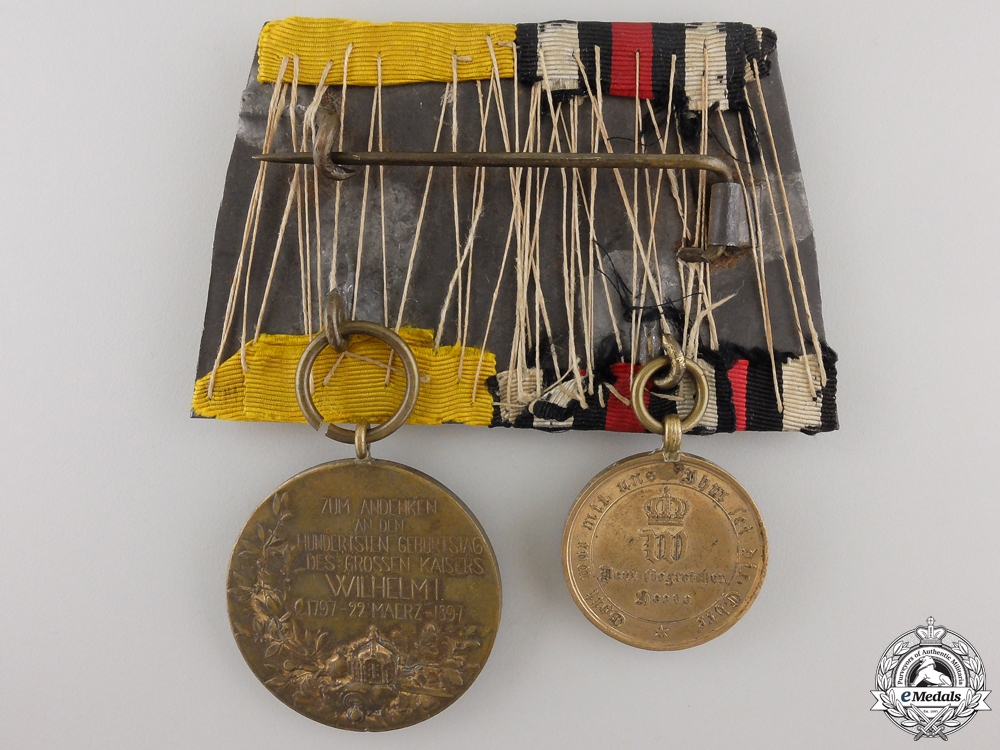 A Franco-Prussian War Medal Pair