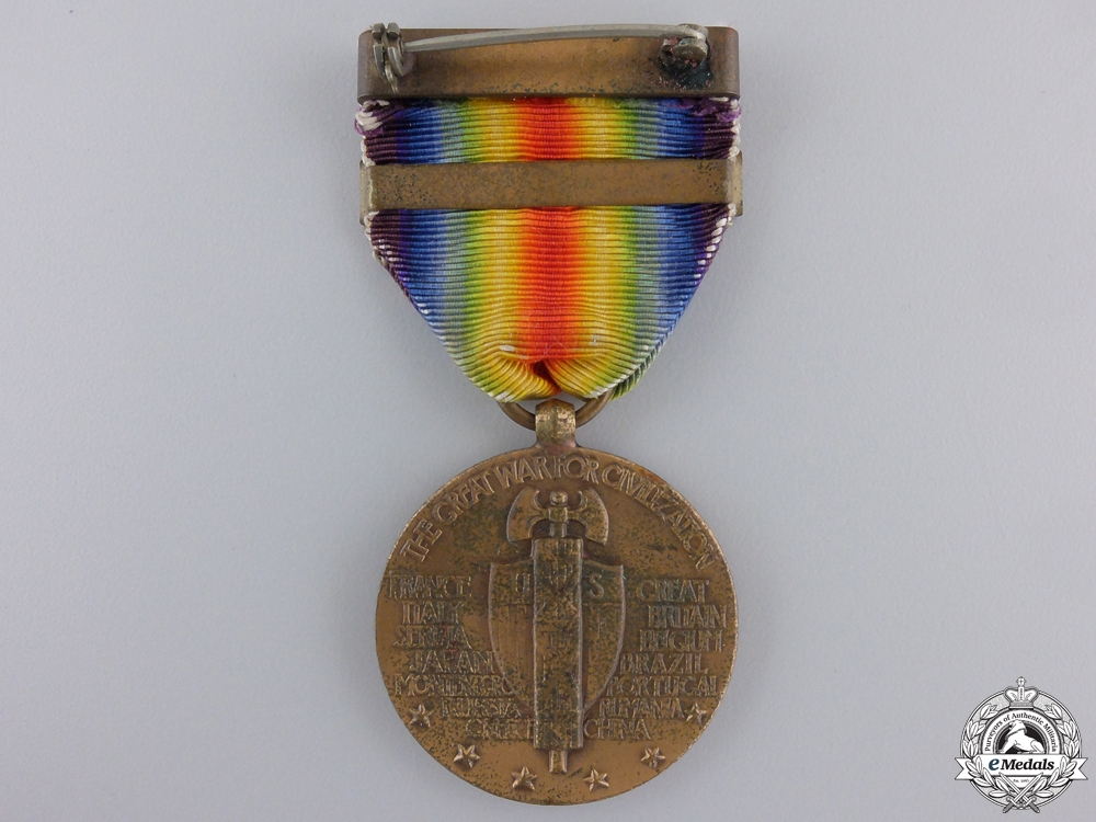 A First War American Victory Medal; Salvage Clasp