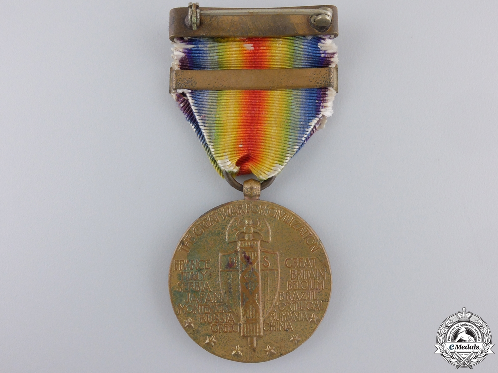 A First War American Victory Medal; Mine Laying Clasp