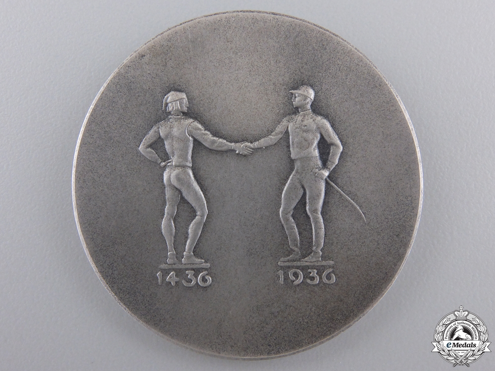 A 1936 German Race in Munich Medal with Case